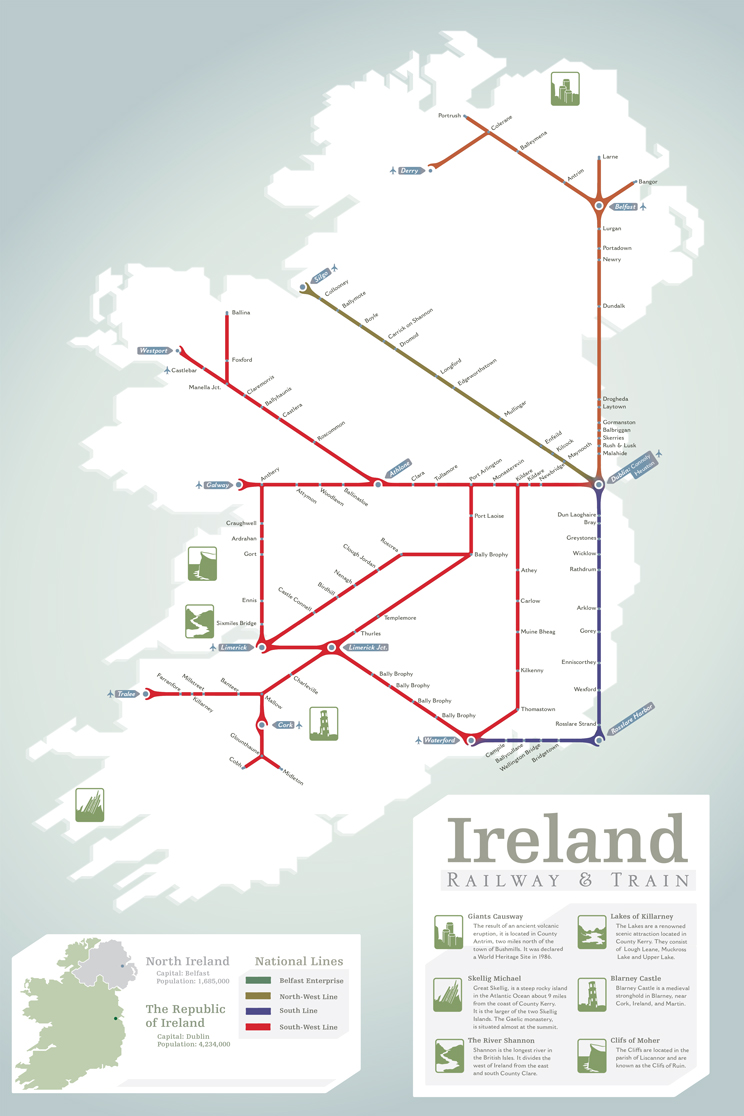 Ireland railway map