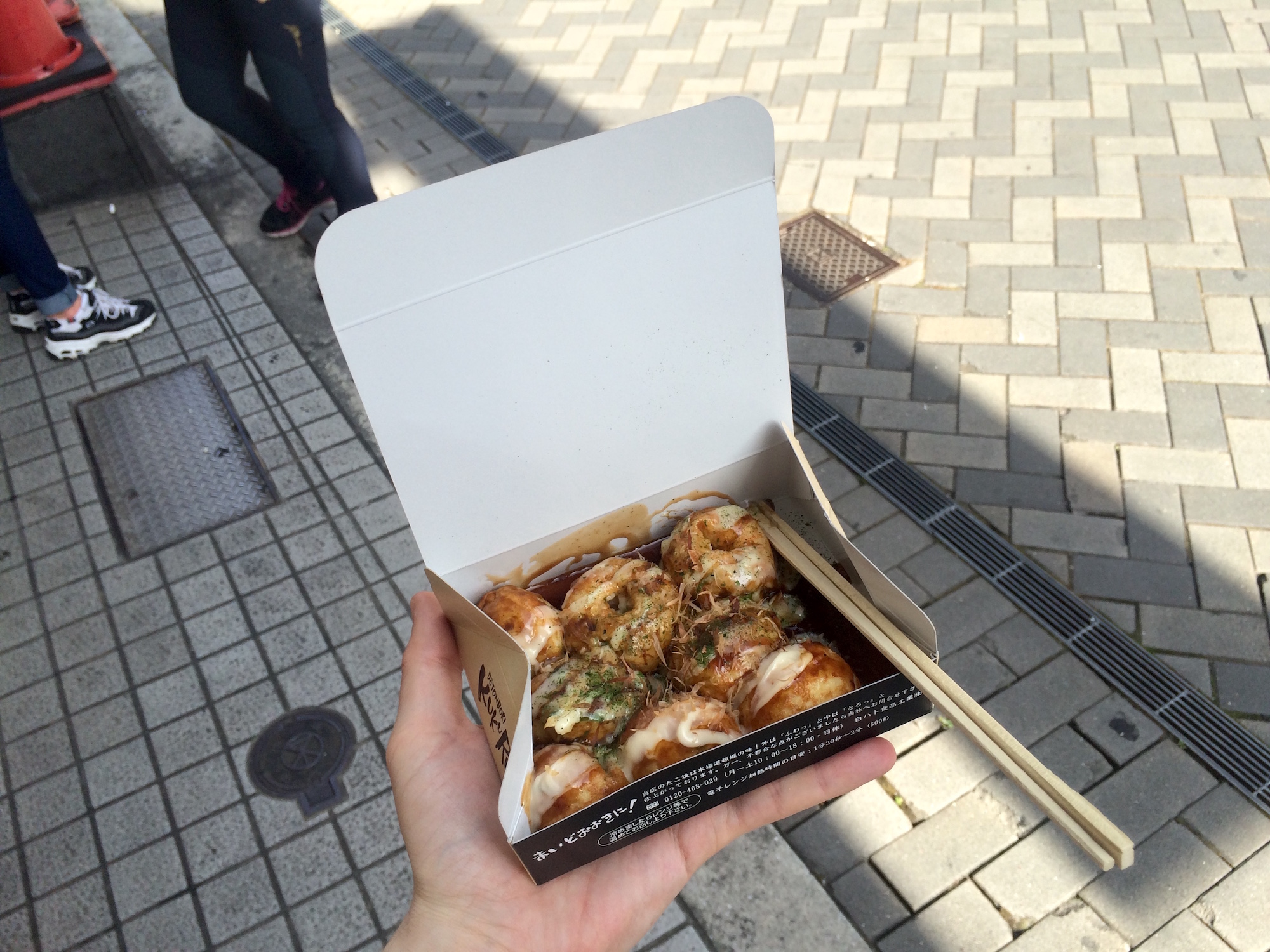 Freshly made takoyaki