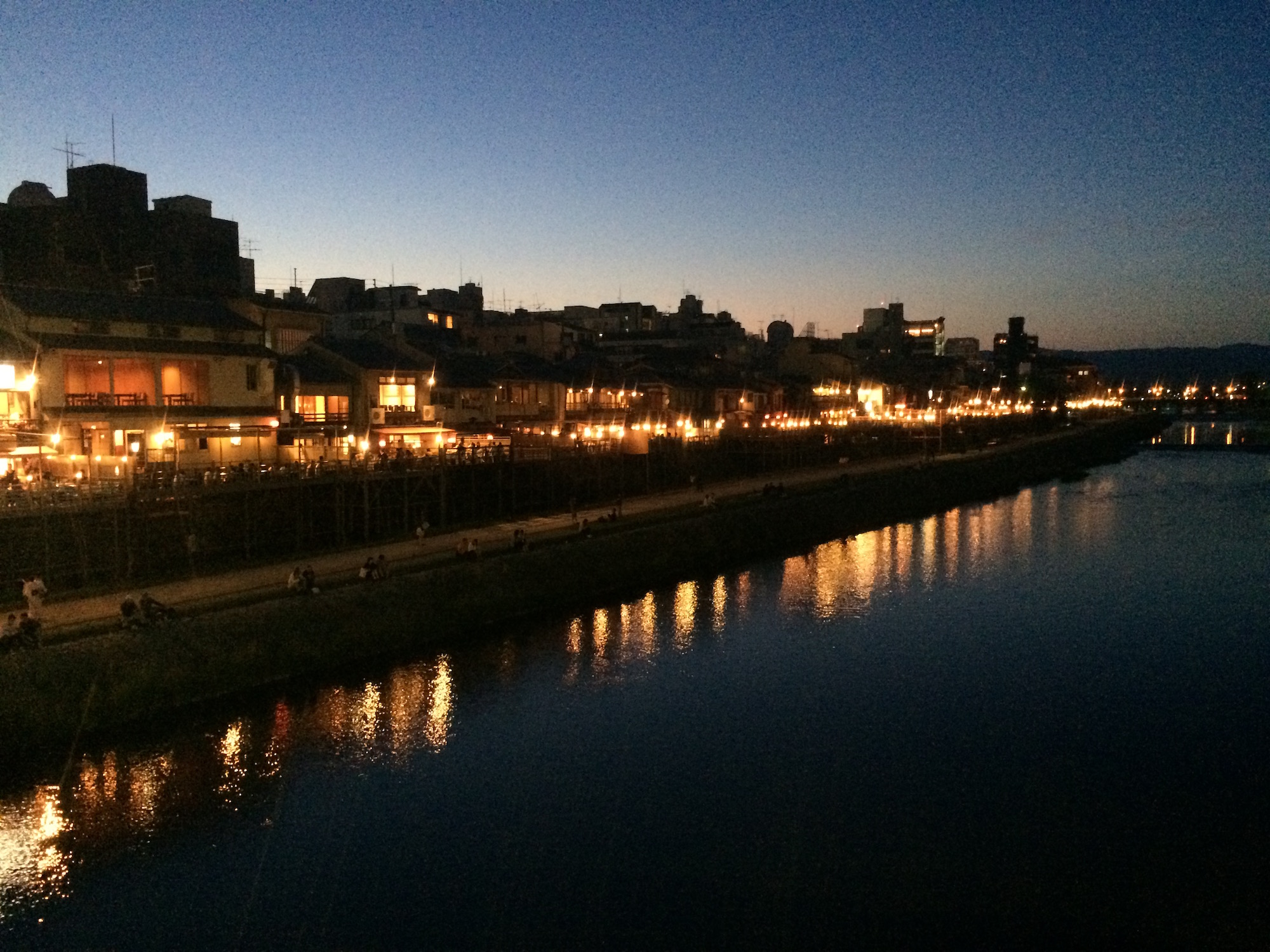 Nightime on the Kamo river
